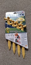 Speed Cinch Stake 4 Pack Yellow Camping Garden Tree Tarps Canopy Tent - $9.12