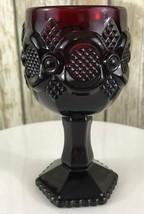 Vintage Avon Ruby Red Cape Cod 1876 Wine Water Goblet 4.5'' - $13.81
