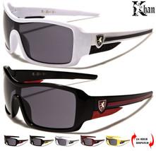 NEU Khan Kinder rechteckige gewickelt Schild Sport kleiner Sonnenbrille UV400 Dripnfa