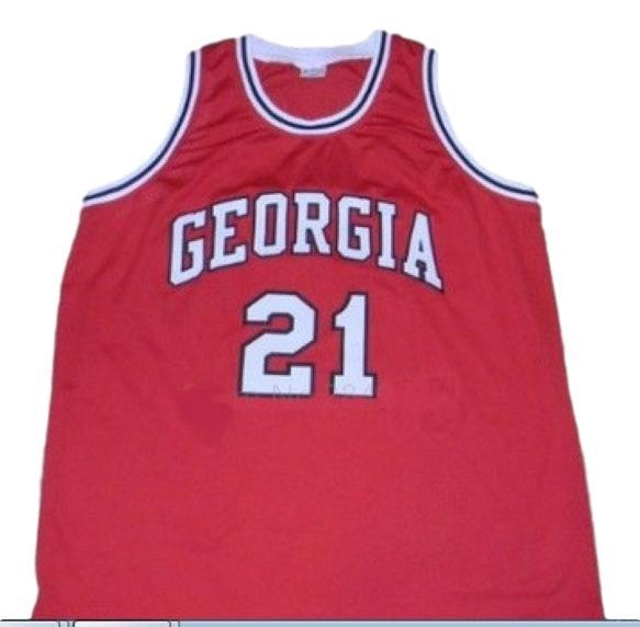 Dominique wilkins college basketball jersey red 1