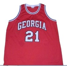 Dominique Wilkins College Basketball Jersey Sewn Red Any Size image 1