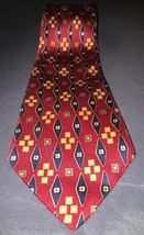 Mark Pendleton 100% Silk Tie Made In Italy Red,... - $8.59