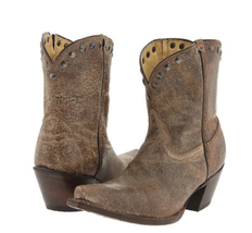 Tony Lama Ladies Brass Mardi Gras Short Cowboy Boot VF3030 size 6B - €150,84 EUR