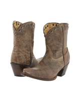 Tony Lama Ladies Brass Mardi Gras Short Cowboy Boot VF3030 size 6B - €151,44 EUR