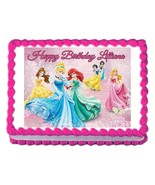 DISNEY PRINCESS party decoration edible cake image cake topper frosting ... - $7.80