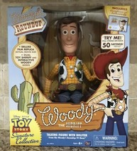 Toy Story Woody's Roundup Talking Sheriff Woody Doll In Hand And Ready T... - $113.84