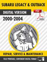 2000 2001 2002 2003 2004 SUBARU LEGACY & OUTBACK FACTORY SERVICE REPAIR ... - $9.90