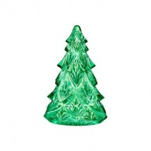 "Waterford Christmas Tree Medium Green 4.5"" Sculpture Crystal New # 40005021 - $134.64"