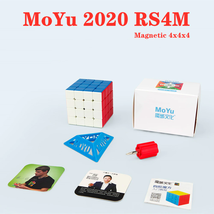 Moyu 2020 RS4M Magnetic 4x4x4 Speed Magic Cube Professional Puzzle Toys - $20.07
