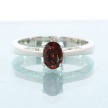 Burma Red Orange Spinel Handcrafted Silver Ladies Ajoure Filigree Ring size 7.75 - £88.35 GBP