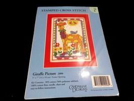 GIRAFFE Cartoon Stamped Cross Stitch kit Cadamar Designs NEW 5″ x 7″ Pic... - $12.86