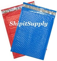2-500 #0 6x10 Poly ( Red & Blue ) Color Bubble Padded Mailers Fast Shipping - $3.49+