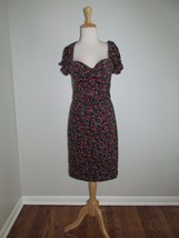 Vintage Betsey Johnson Size 8 Rose Print Floral Puff Sleeve Cord Dress - $754,97 MXN