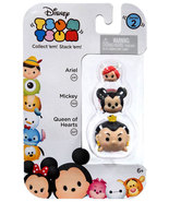 Disney Tsum Tsum 3 Pack Series 2 Ariel 231 Mickey 102 Queen of Hearts 22... - $8.00