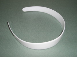 """WHOLESALE Lot 36 White Plastic HEADBANDS 1"""" WIDE Tapered Ends Free Prior... - €19,28 EUR"""
