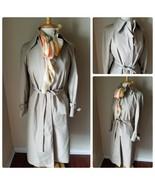 London Fog Women's Trench Coat Rain Jacket Belted Beige Long Size 8P + S... - $96.25