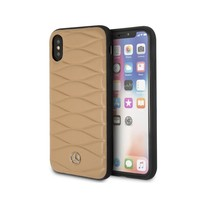 Mercedes-Benz Pattern III Genuine Leather Hard Case for iPhone X Free De... - $51.97