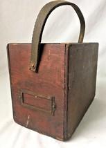 Vintage Handmade Wooden Tool Caddy Box Drawer Carpenter Toolbox Primitiv... - $39.55