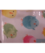 """Cynthia Rowley Colorful Easter Chicks Easy Care Tablecloth 70"""" Round - $32.00"""
