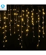 Christmas outdoor decoration 5m Droop 0.4-0.6m curtain icicle string led... - $17.00+