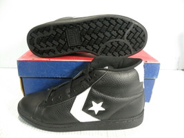CONVERSE PRO LEATHER HI MEN SZ 6.5 / WOMEN SZ 8 SHOES BLACK *2342 NEW - $79.19