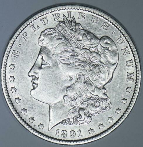 "1891-O ""E"" Clash Morgan Dollar; Choice AU; VAM-1A, Top 100!"