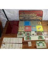 Vintage Marx Suburban Colonial Doll House Metal Tin Toy Lithograph Original Box - $44.99