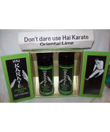 Vintage Hai Karate Oriental Lime Men's Cologne & After Shave Lotion 4Oz ... - $126.09