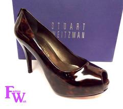 New STUART WEITZMAN Size 5.5 SIERRA Tortoise Patent Platform Heels Shoes... - $119.00