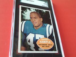1960   JOHNNY  SAMPLE  #  9  TOPPS   SGC  80    BALTIMORE  COLTS   FOOTB... - $29.99