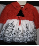 Baby Girl Dress and Jacket Party NWT Roses Red and Black 3 to 6 Months B... - $38.00