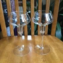 2 Hollow Stem Cordial Champagne Wine Glasses Stemware Vintage MCM Crystal - $24.75