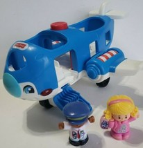 Fisher Price Little People Travel Together Airplane Talking Lights Pilot... - $12.86