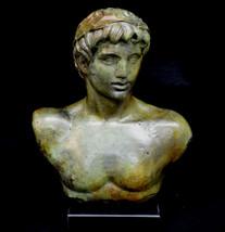Apollo statue bust ancient Greek God of light, sun, poetry bronze sculpture - $499.00