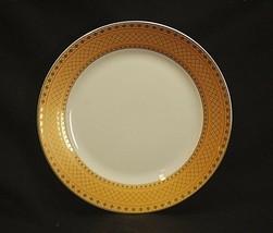 "Alpine Cuisine 7-1/2"" Salad Plate Gold Geometric Designs Fine Porcelain ... - $14.84"