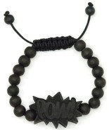 POW Bracelet New Natural Good Wood Style Adjustable Macrame With 10mm Wo... - $10.73