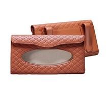 PANDA SUPERSTORE Rhombus Microfiber Leather Car Visor Tissue Case Tissue Holder( image 2