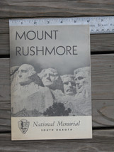 MOUNT RUSHMORE 1958 Official Nat'l Memorial South Dakota Brochure Map~SH... - $12.99