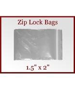 200 Zip Lock Top Recloseable Poly Seal Bags 1.5... - $6.98
