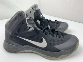 Nike Zoom Hyperquickness Basketball Shoes Mens Size 11 Black Gray 599519... - $49.49