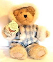 "NWT Boyds Bear FLURRY B. BUNDLEUP Blue Plaid Gold Bear 8"" New Tags Retired - $18.46"