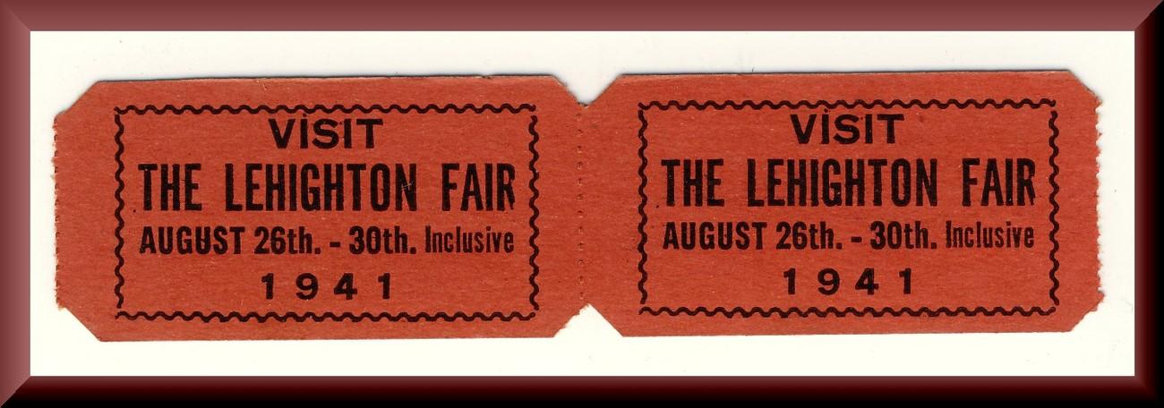 2-1941 Lehighton Fair GroundsTickets, Lehigh Valley, Pennsylvania/PA
