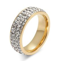 New Brand Silver Color Stainless Steel 5 Rows CZ Stone Fashion Engagement Weddin image 3