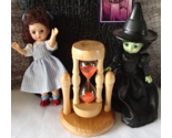 Wizard of Oz Dorothy Witch West Rotating Wood Glass Sand Timer Mcdonalds NIP NIB