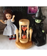 NIP NIB Wizard of Oz Dorothy Witch West Rotating Wood Glass Sand Timer M... - €32,08 EUR