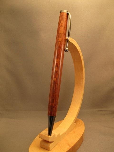 1 Piece Leopardwood Slimline Handmade