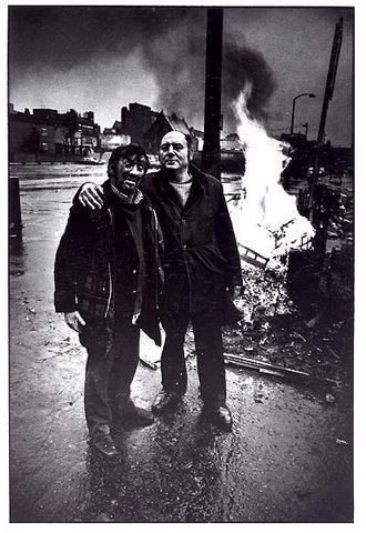Primary image for DON McCULLIN Duotone BRICK LANE 1980 Fire Among Friends