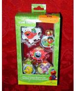 Sesame Street 5 piece Christmas ornament set Elmo Cookie Monster Big Bird - $10.00