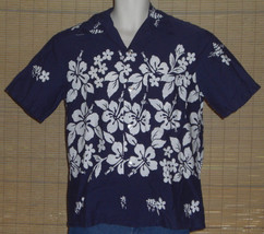 413839dc8 Ui Maikai Hawaiian Shirt Blue White Flowers Vintage No Size 100% Cotton -  $44.73