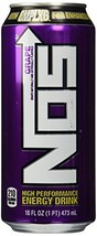 NOS Energy Drink, Grape, 16-Ounce (Pack of 8) - $29.69